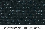 wall of cubes and random... | Shutterstock . vector #1810720966