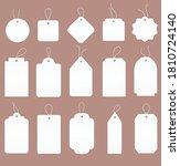 large set of 15 blank white... | Shutterstock .eps vector #1810724140