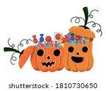 halloween pumpkins cartoons... | Shutterstock .eps vector #1810730650