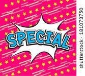special comic speech bubble | Shutterstock .eps vector #181073750