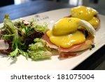 egg benedict   Shutterstock . vector #181075004