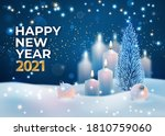 new year 2021 holiday card.... | Shutterstock .eps vector #1810759060