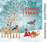 Christmas Holiday Card. Vector...