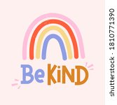 be kind inspirational card with ...   Shutterstock .eps vector #1810771390