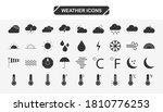 set of weather vector solid...