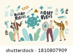 characters fight with virus...   Shutterstock .eps vector #1810807909