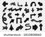 big set of hand drawn arrows.... | Shutterstock .eps vector #1810808860