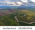 scenic landscape aerial view of ... | Shutterstock . vector #1810810546