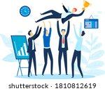 success corporate victory ... | Shutterstock .eps vector #1810812619