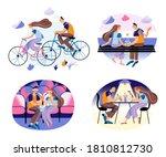 romantic couple spending time...   Shutterstock .eps vector #1810812730