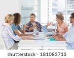 young design team having a... | Shutterstock . vector #181083713