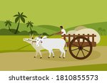 a villager transports goods in... | Shutterstock .eps vector #1810855573