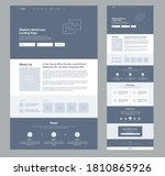 website landing page design for ...