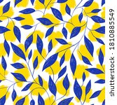 seamless pattern with leaves... | Shutterstock . vector #1810885549