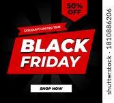 creative modern black friday... | Shutterstock .eps vector #1810886206