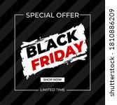 creative modern black friday... | Shutterstock .eps vector #1810886209