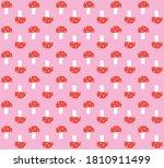 seamless pattern of mushrooms... | Shutterstock .eps vector #1810911499