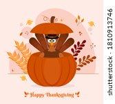 cartoon turkey bird wearing...