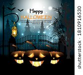 halloween background with... | Shutterstock .eps vector #1810916530