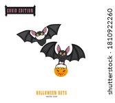 halloween covid bats. funny...   Shutterstock .eps vector #1810922260