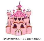 Princess Castle Clipart. Hand...