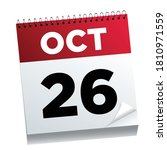 october 26th on a calendar page ...   Shutterstock .eps vector #1810971559