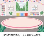 children room flat color vector ... | Shutterstock .eps vector #1810976296