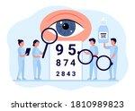 doctor is checkup eye vision....   Shutterstock .eps vector #1810989823