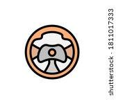 steering wheel icon. simple...
