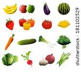 a vector illustration of fruit... | Shutterstock .eps vector #181102529