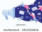 people promoting digital... | Shutterstock .eps vector #1811026816