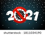happy new year 2021 poster with ...   Shutterstock .eps vector #1811034190