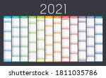 year 2021 colorful wall... | Shutterstock .eps vector #1811035786