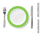 Empty Vector Green Plate With...