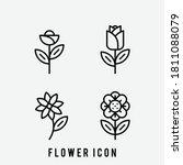 flower icon set. tulip  rose....
