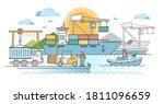 Commercial Port Harbor Dock...