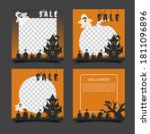 set of editable halloween... | Shutterstock .eps vector #1811096896