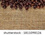 Coffee Beans. Macro Photo...
