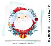 cute doodle santa claus for... | Shutterstock .eps vector #1811112469