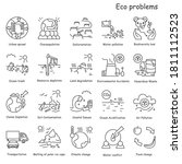 eco problems icons set.... | Shutterstock .eps vector #1811112523
