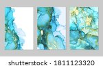 luxury blue  teal and gold... | Shutterstock .eps vector #1811123320