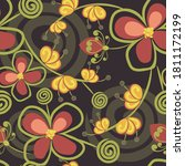 raster seamless pattern with... | Shutterstock . vector #1811172199