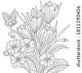 vector coloring botanical... | Shutterstock .eps vector #1811190406