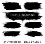 set of black ink vector stains. ... | Shutterstock .eps vector #1811191813
