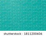 blue green brick texture. teal...   Shutterstock .eps vector #1811200606