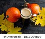 Pumpkin Ale. Craft Autumn Beer...