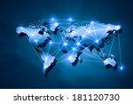 media blue background image... | Shutterstock . vector #181120730