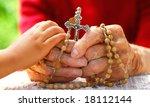 Child Hand Holding Old Catholic ...