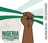 nigeria independence day with... | Shutterstock .eps vector #1811224660