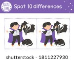 halloween find differences game ... | Shutterstock .eps vector #1811227930